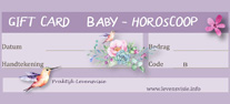 babyhoroscoop kraamkado giftcard