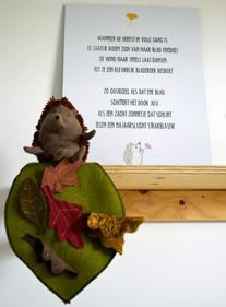 gedichtje geboortekaart herfstmeisje