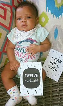 meisje 12 weken