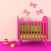 roze babykamer voor meisje