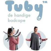 kraamkado Tuby badcape handige handdoek