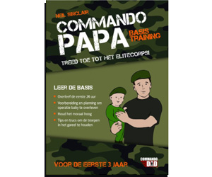 geboortekaartjes Commando Papa Basis Training boek