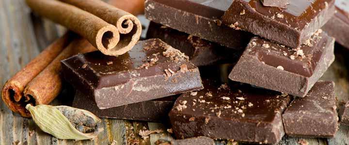 Homemade chocoladereep puur