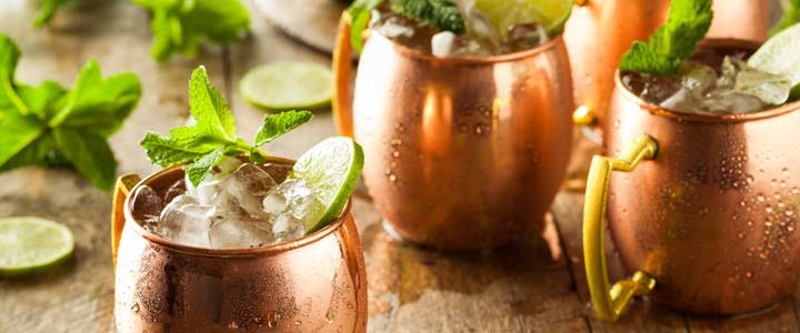 Recept alcoholvrije Moscow Mule cocktail