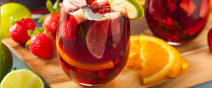 Alcoholvrije Sangria cocktail