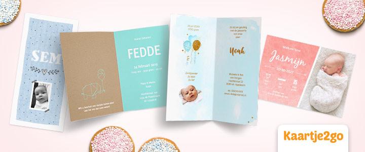 Gouden tip kans op gratis geboortekaartjes bij Kaartje2go