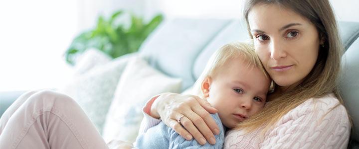 Kindje voor het eerst ziek en het combineren van mama en carrièrevrouw