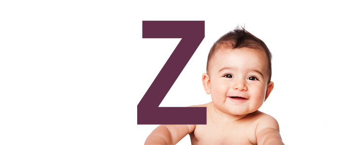 Jongensnamen eindletter Z
