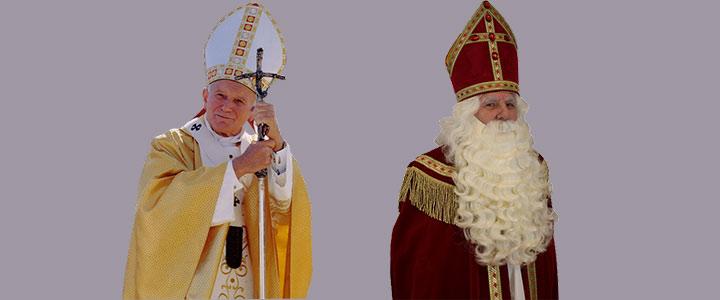 Pientere peuterpraat | De Paus lijkt op Sinterklaas