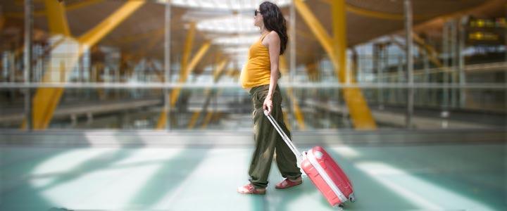 Zwanger met het vliegtuig