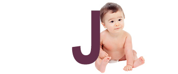 Baby names that end with J