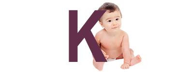 Prénoms de bébé dernière lettre K