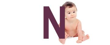 Prénoms de bébé dernière lettre N