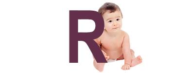 Prénoms de bébé dernière lettre R