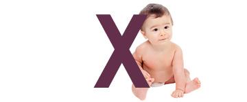Babynamen eindletter X