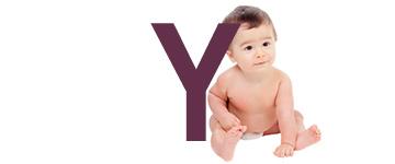 Prénoms de bébé dernière lettre Y