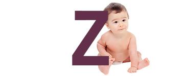 Prénoms de bébé dernière lettre Z