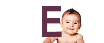 Jongensnamen met een E