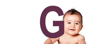 Jongensnamen eindletter G