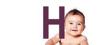 Nombres de niño con H
