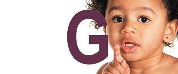 Prénoms de fille la lettre de fin G