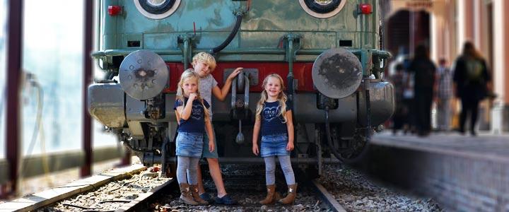 Spoorlopers naar het spoorwegmuseum